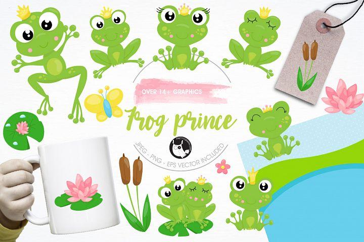 Frog prince graphics and illustrations