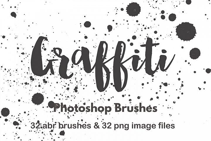 Photoshop brushes watercolor paint splatter grunge graffiti