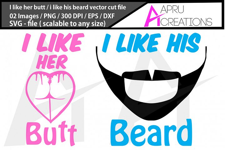 i like her butt, i like his beard silhouette, clipart
