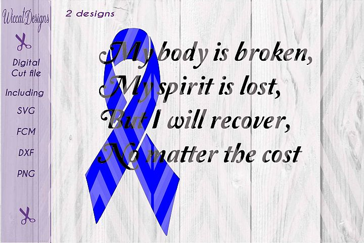 Quote svg, Body and spirit svg,  gbs svg,  Guillain Barre syndroom