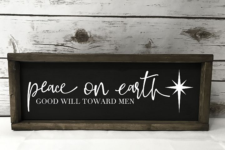 Peace on Earth - North Star - SVG EPS PNG