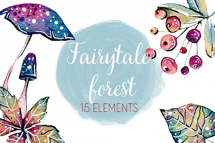 Watercolor Fairytale Forest