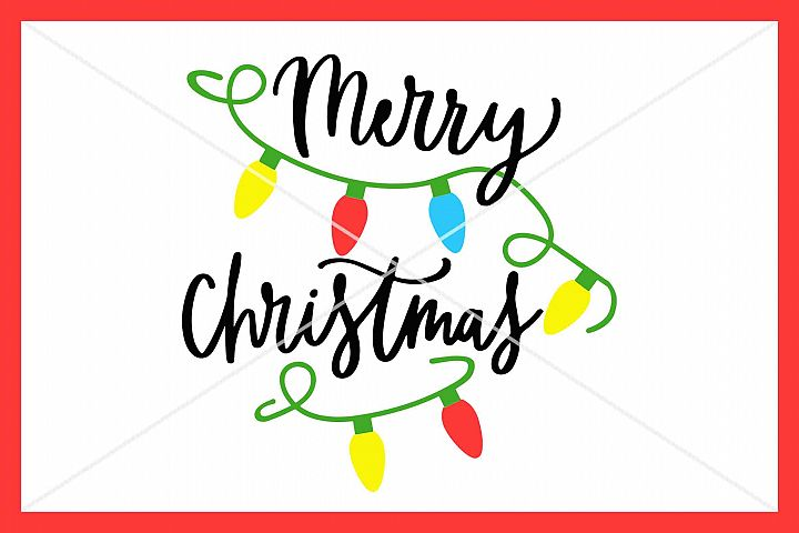 Merry Christmas SVG, Instant Download, Cricut, Cut File
