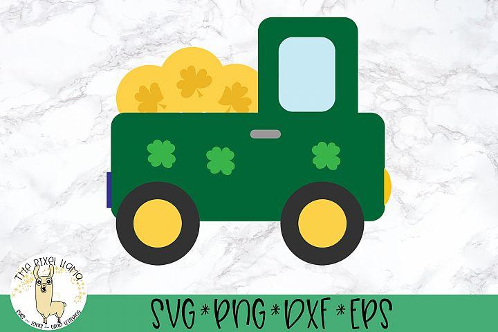 Pot Of Gold Truck St Patricks SVG Cut File