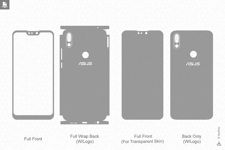 Zenfone Max Pro M2 2018 Skin Template Vector