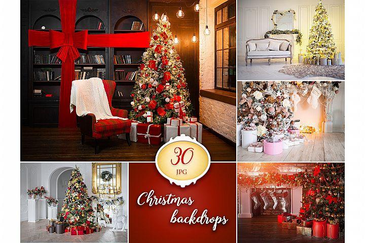 30 Christmas Digital Backgrounds