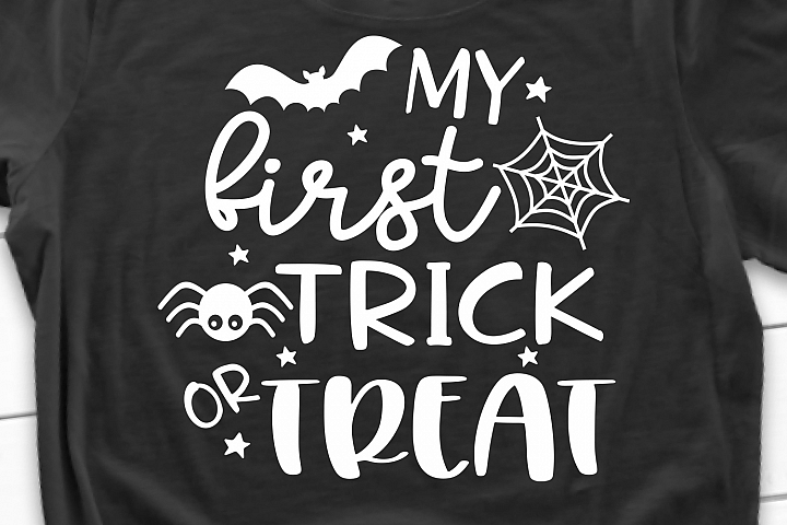 My First Trick or Treat SVG, DXF, PNG, EPS