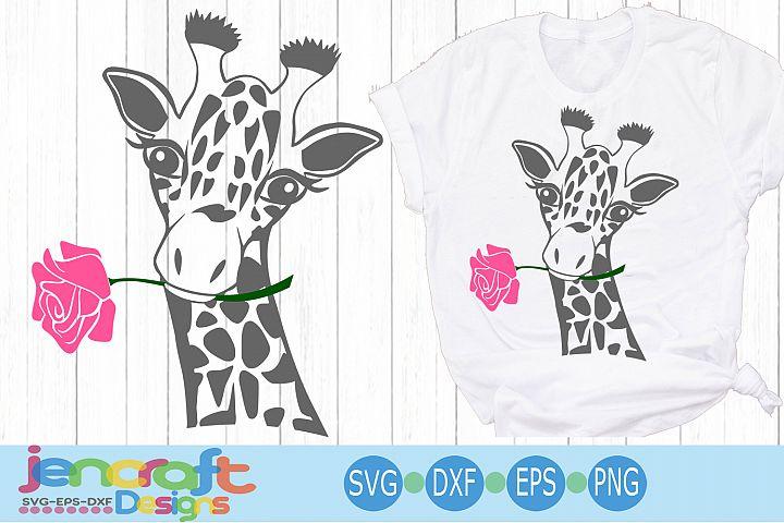 Giraffe Face svg, Flower Rose Safari Giraffe head cut file