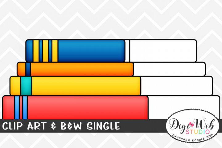 Clip Art & B&W Single - Stack of Books