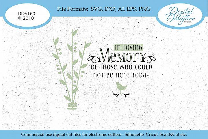 In Loving Memory Wedding Memorial SVG DXF PNG EPS Cut File