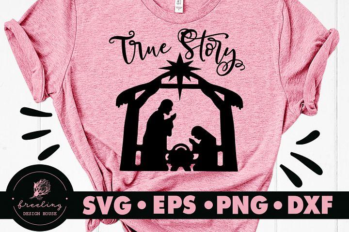 Nativity True Story SVG DXF EPS PNG