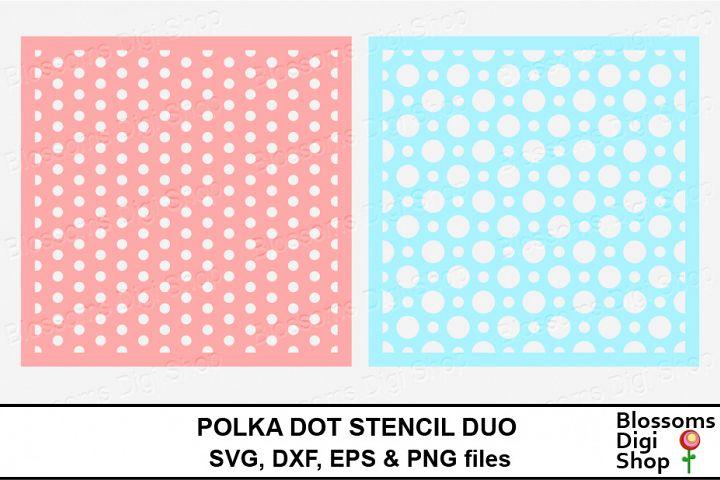 Polka Dot Stencil Duo