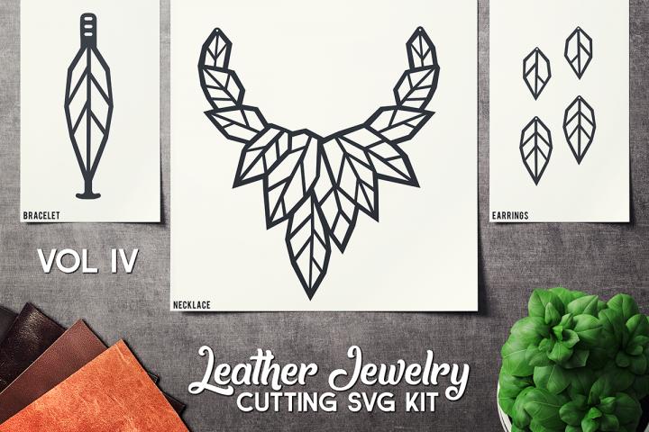 Leather Jewelry CUT Template- Earrings - Braceles - VOL 4