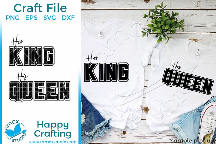 Her King, His Queen Couples SVG file