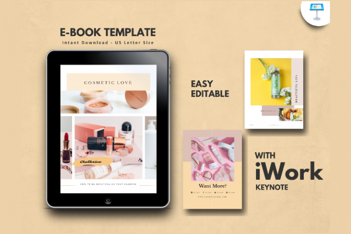 Cosmetic Makeup eBook Template Keynote Presentation