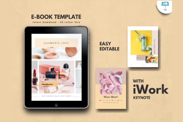Cosmetic Makeup eBook Template Keynote Presentation