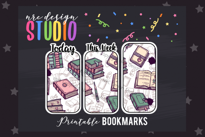 Book Lover Bookmark, Planner Printable
