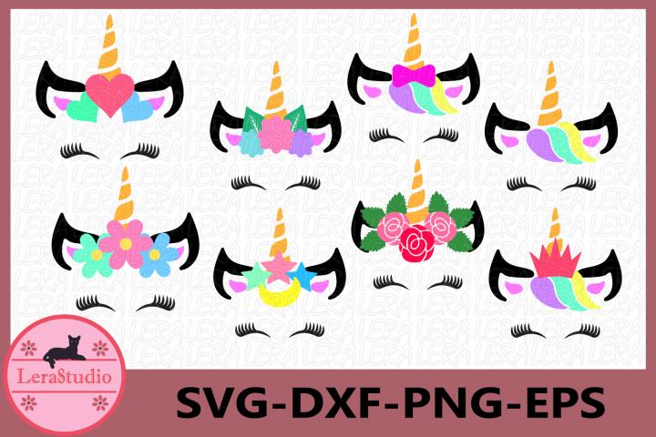 Unicorn svg, Unicorn Head SVG, Unicorn with eyelashes