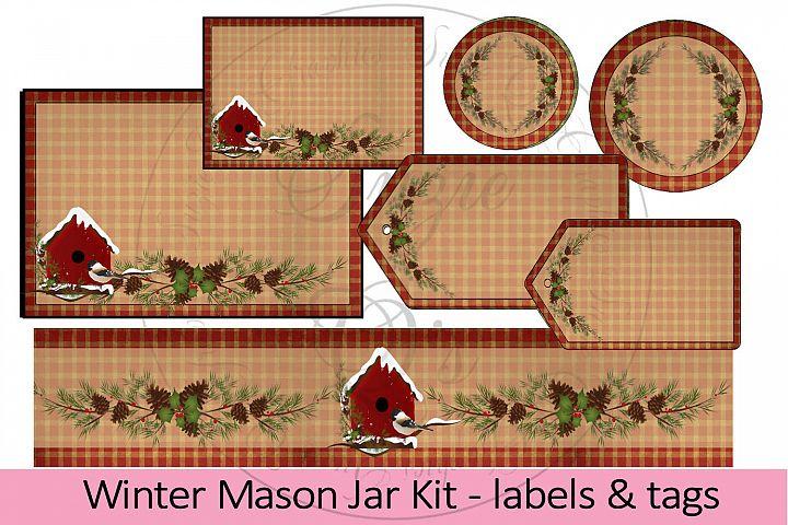 Winter Mason Jar Kit Two- labels & tags
