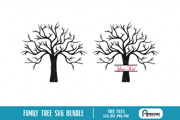 Family Tree SVG Bundle - 2 tree silhouette vectors