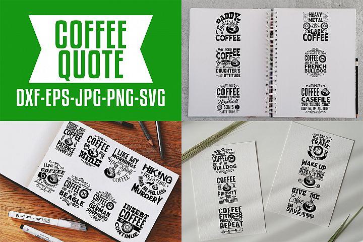 Coffee Quotes V7 Black