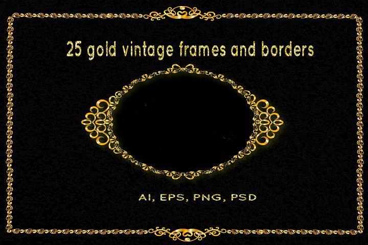 25 golden vintage frames