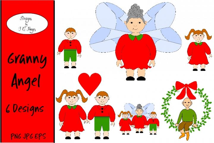 Granny Angel and More, Clip Art, Sublimation