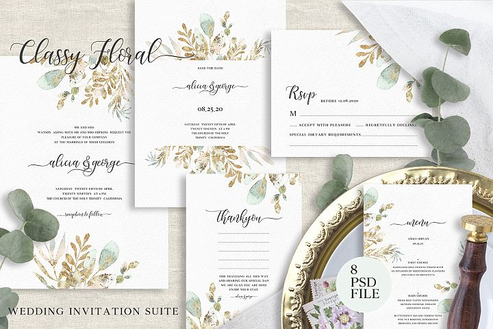 Classy Floral Wedding Suite