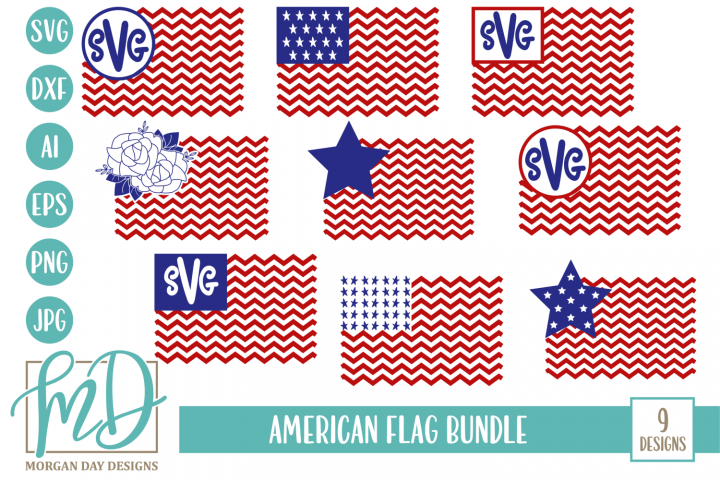 4th of July - Patriotic - American Flag Bundle SVG