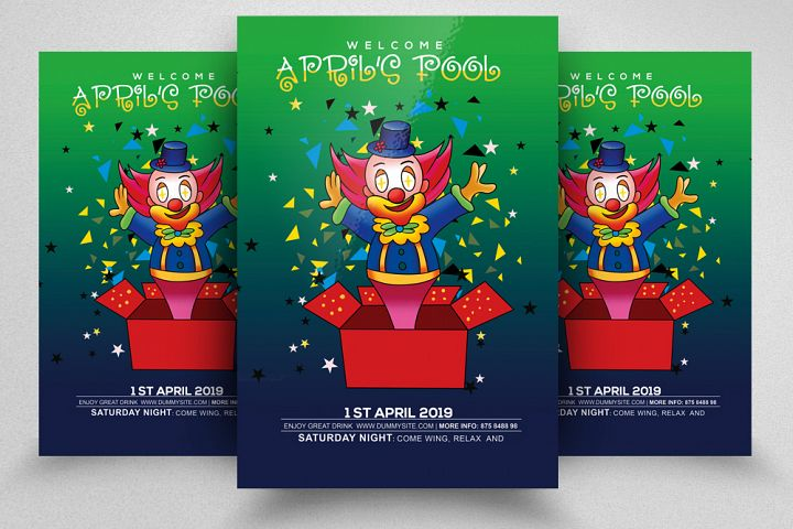 April Fools Day Flyer Template