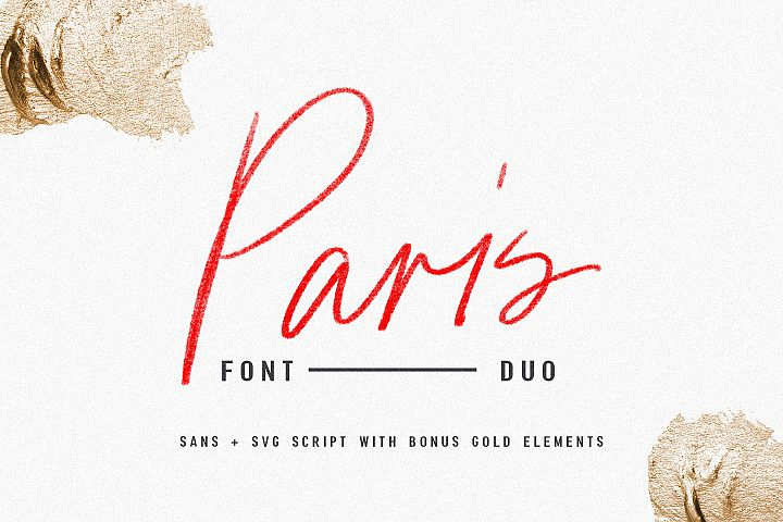 Paris | Font Duo  SVG with Extras