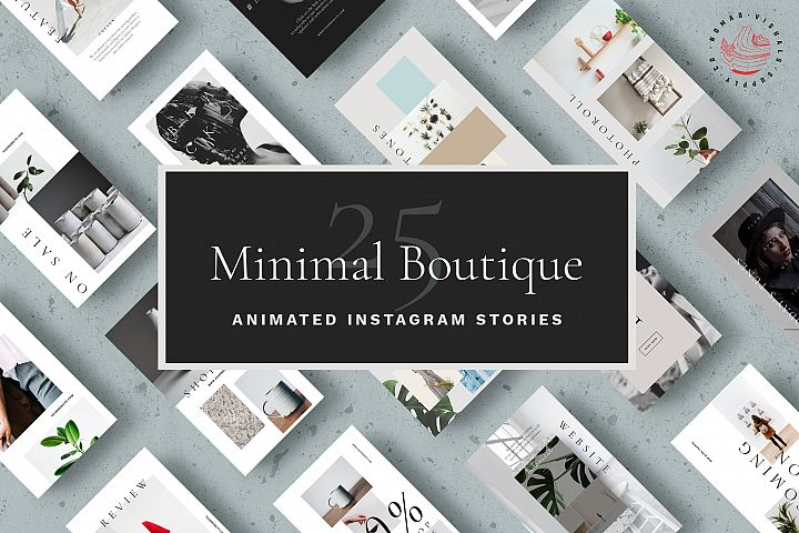 Animated Instagram Stories Templates - Minimal Boutique