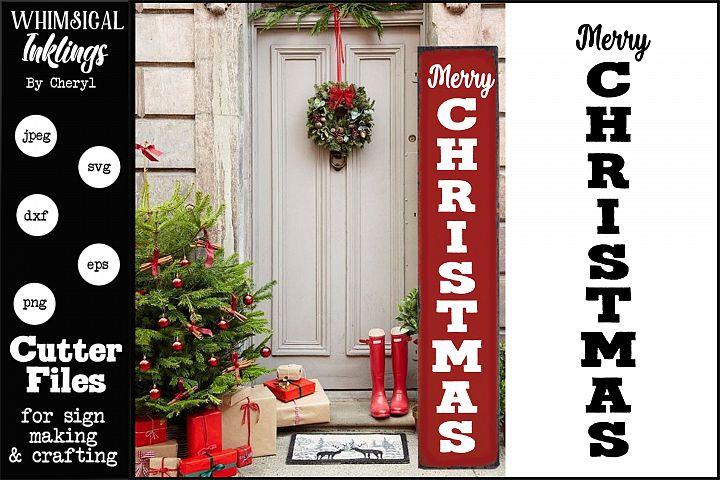 Merry Christmas-Vertical SVG