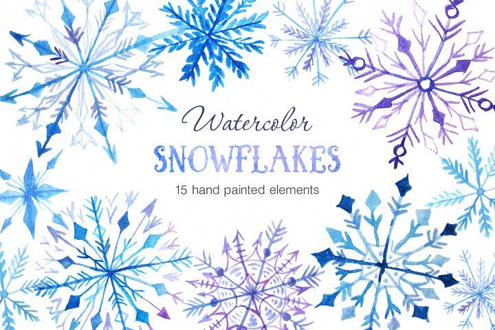 Watercolor Snowflakes Set Vol.2 - Free Design of The Week Font