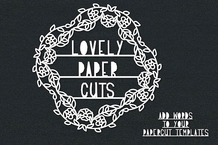 Lovely Paper Cuts - A Papercut Lettering Font