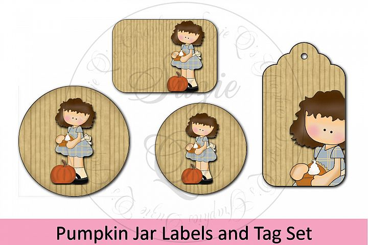 Pumpkin Jar Labels and Tag