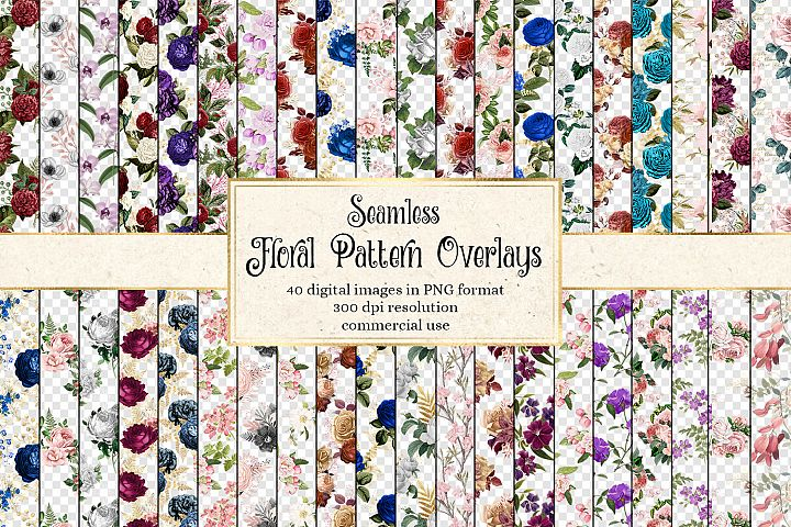 Floral Pattern Overlays