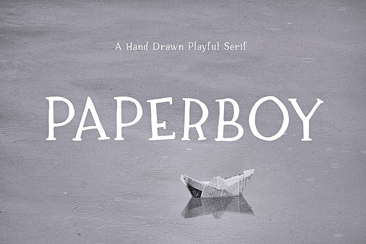 Paperboy | A Hand Drawn Playful Serif