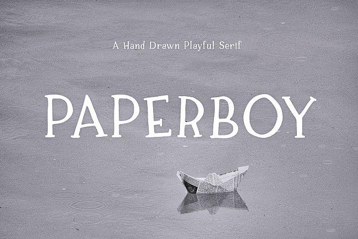 Paperboy | A Hand Drawn Playful Serif