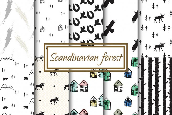 Scandinavian Forest Seamless Pattern