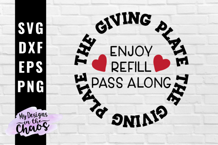Giving Plate SVG EPS DXF PNG