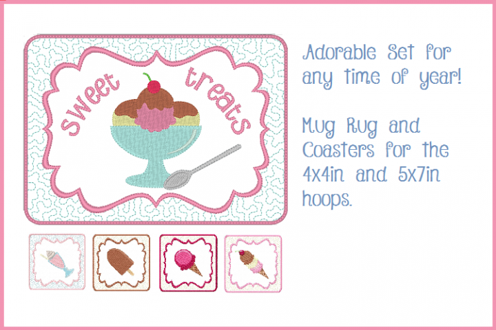 Sweet Treats Mug Mat and Coaster Set