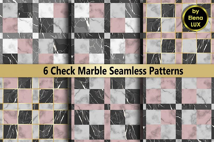 Check Marble Seamless Set