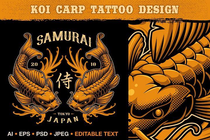 Koi carp vector illustration.