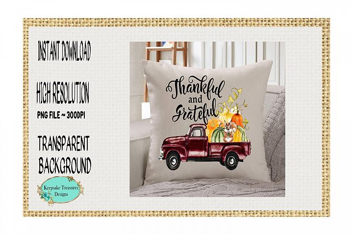 Thankful and Grateful Vintage Truck
