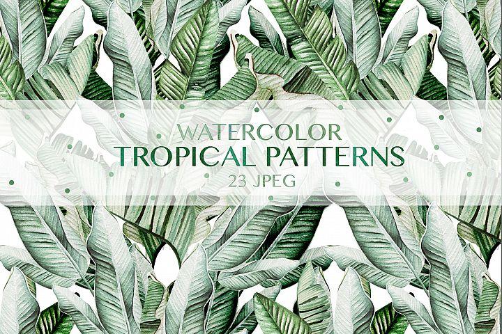 23 Watercolor Tropical Pattern