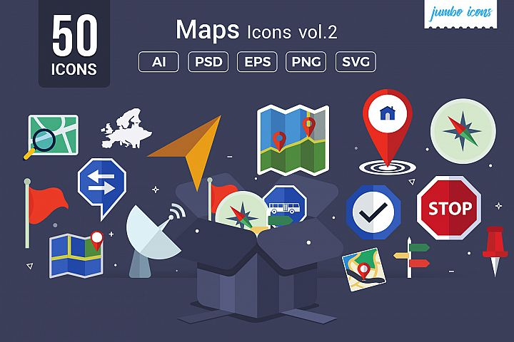 Maps / Navigation Vector Icons V2
