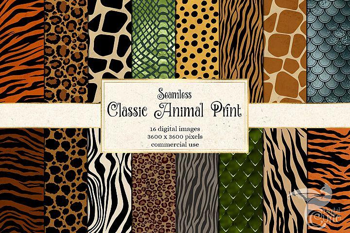 Classic Animal Print Digital Paper