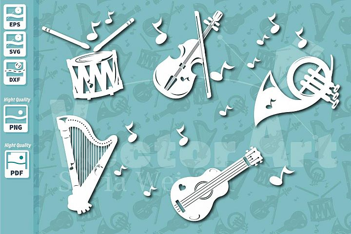 Music Instruments - Cut File for Crafters