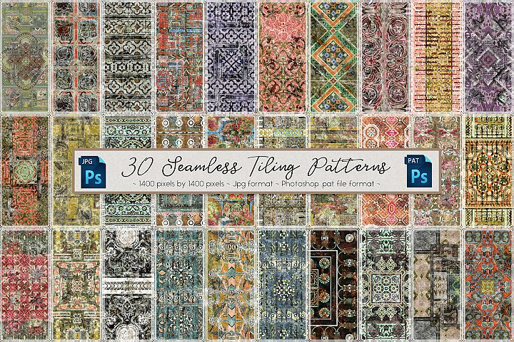 30 Vintage Styled Seamless Tiling Patterns